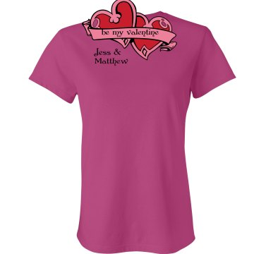 Valentine Tee Junior Fit Bella Sheer Longer Length Rib Tee