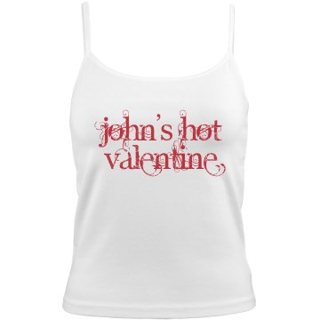 Hot Valentine Bella Junior Fit Contrast Satin Trim Cami