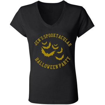 Halloween Party Junior Fit Bella V-Neck Jersey Tee