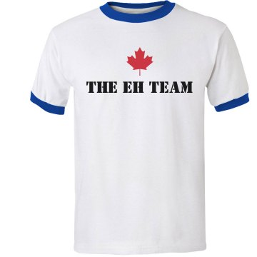 Canada Eh Team Junior Fit Bella 1x1 Rib Ringer Tee