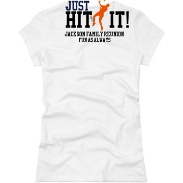 Badminton Family Reunion Junior Fit Basic Bella Favorite Tee