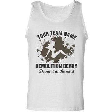 Demolition Derby Tank Unisex Basic Gildan Ultra Cotton Tank Top