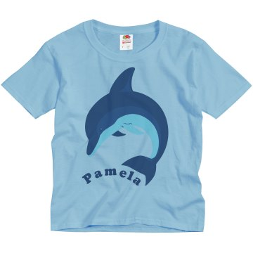Kid&#x27;s Dolphin Tee Youth Basic Gildan Ultra Cotton Crew Neck Tee