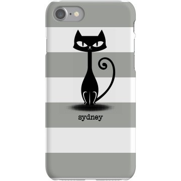 Cat Stripe iPhone Case Plastic iPhone 5 Case White