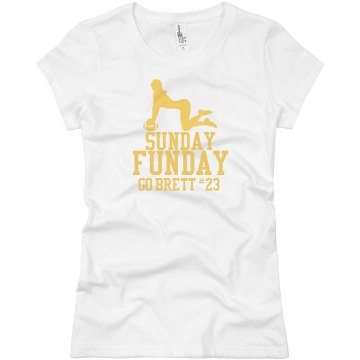Football Funday Junior Fit Brightline 3&#x2F;4 Sleeve Jersey Tee