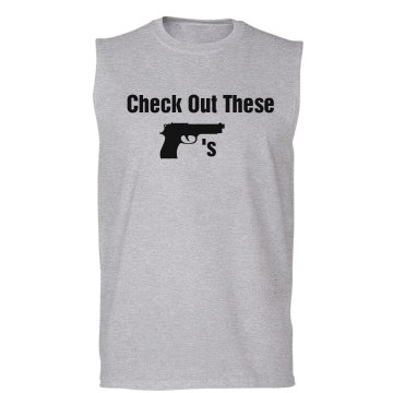 Check Out My Guns Unisex Gildan Ultra Cotton Sleeveless Tee