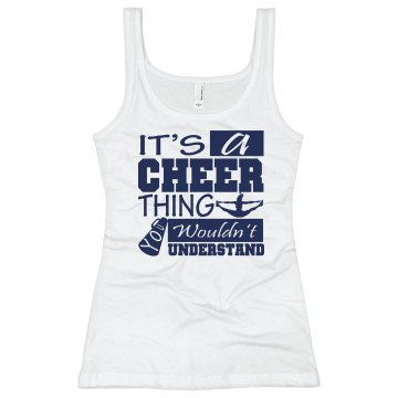 It's A Cheer Thing Junior Fit Bella Longer Length 1x1 Rib Tank Top