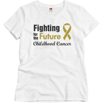 Childhood Cancer Ribbon Misses Relaxed Fit Basic Gildan Ultra Cotton Tee