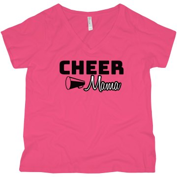 Cheer Mom Junior Fit American Apparel Fine Jersey Tee