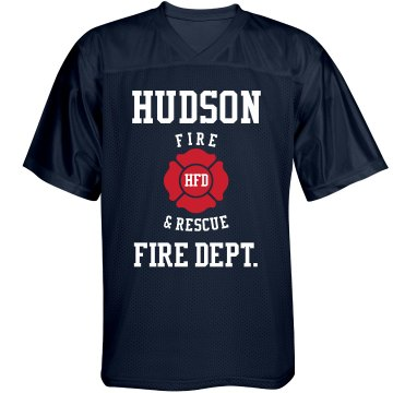 Fire Chief Jersey w/back Unisex Augusta Replica Football Jersey
