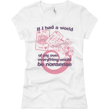 World Of Nonsense Junior Fit Basic Bella Favorite Tee