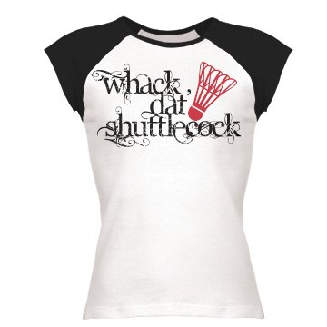 Badminton Whack Dat Junior Fit Bella 1x1 Rib Ringer Tee