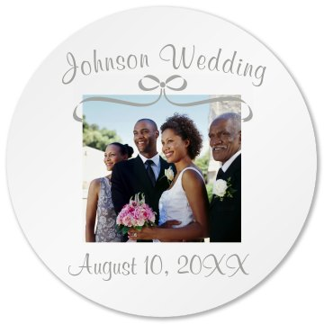 Wedding Coaster Round Plastic Coaster with Cork Back