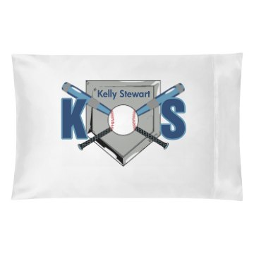 Baseball Initials Pillow Pillowcase