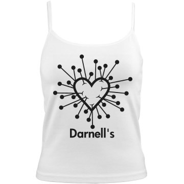 Darnell's Valentine Bella White Basic Junior Fit Camisole