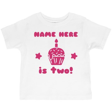 Birthday Balloon Pink Toddler Basic Gildan Ultra Cotton Crew Neck Tee