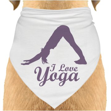 Walking Yoga Billboard Dog Bandana