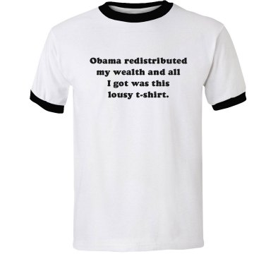 Obama Lousy T-Shirt Unisex Anvil Ringer Tee