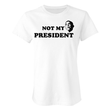 Not My President Junior Fit Bella Sheer Longer Length Rib Tee