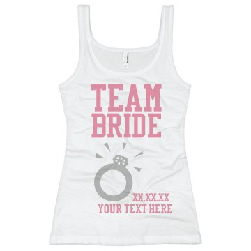 Team Bride Giant Ring Junior Fit Basic Bella 2x1 Rib Tank Top