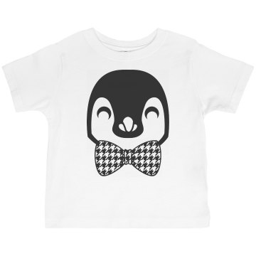 Penguin Bow Tie Toddler American Apparel 3/4 Sleeve Baseball Tee
