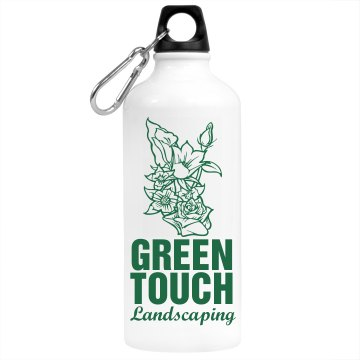 Landscaping Flower Biz Aluminum Water Bottle