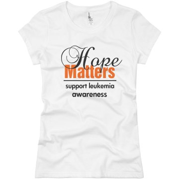 Hope Matters Junior Fit Basic Bella Favorite Tee