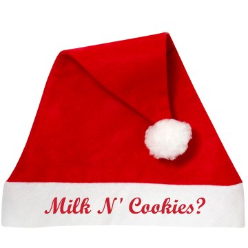 Milk N' Cookies Hat Personalized Santa Hat