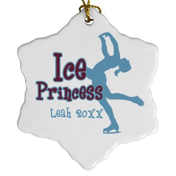 Ice Princess Porcelain Snowflake Ornament