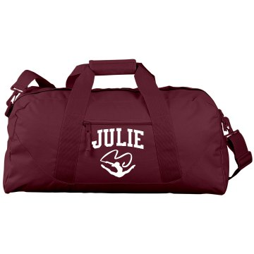 Custom Gymnast Name Port & Company Large Square Duffel Bag