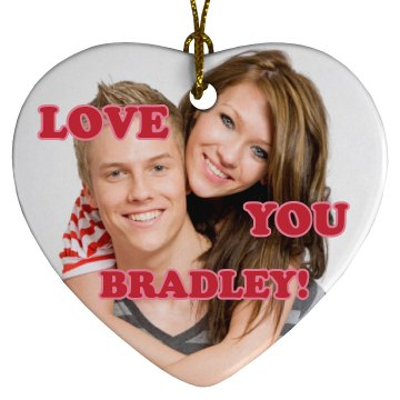 Valentine's Couple Porcelain Heart Ornament