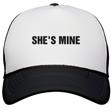 She's Mine Trucker Hat KC Caps Poly-Foam Snapback Trucker Hat