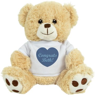 Baby Boy Congrats Plush Baby Shower Teddy Bear