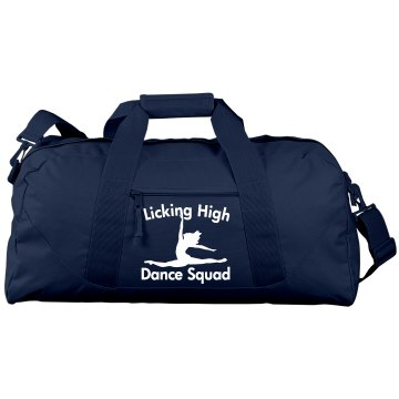 Licking High Dance Port &amp; Company Large Square Duffel Bag