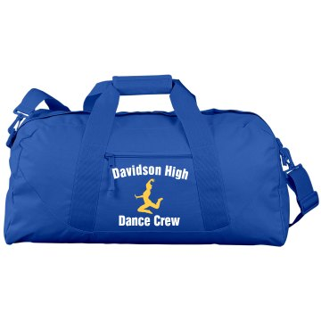 Davidson High Dance Crew Port & Company Large Square Duffel Bag