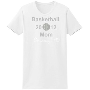 Basketball Mom Tee Misses Relaxed Port & Company Essential Tee