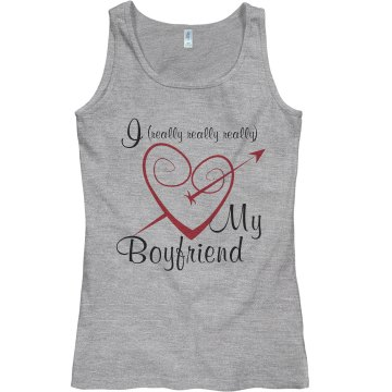 i heart my bf Junior Fit Bella Sheer Longer Length Rib Tank Top