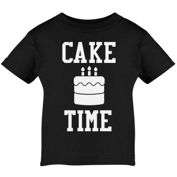 Cake Time! Infant Rabbit Skins Lap Shoulder Tee