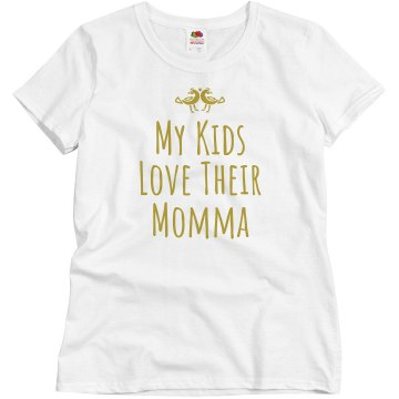 Love Their Momma Misses Relaxed Fit Basic Gildan Ultra Cotton Tee