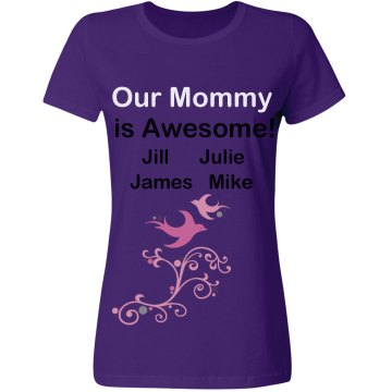 Awesome Mommy Misses Relaxed Fit Gildan Heavy Cotton Tee