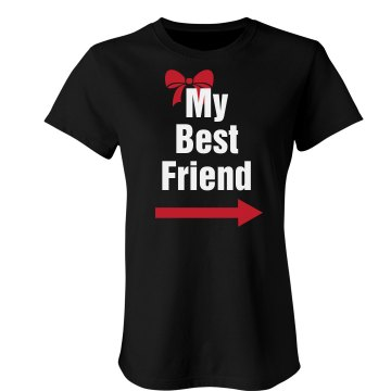 My Best Friend Left Junior Fit Bella Crewneck Jersey Tee