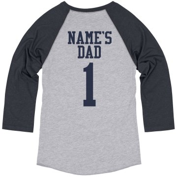 Father Baseball Tee Unisex Anvil 3/4 Sleeve Raglan Baseball Tee