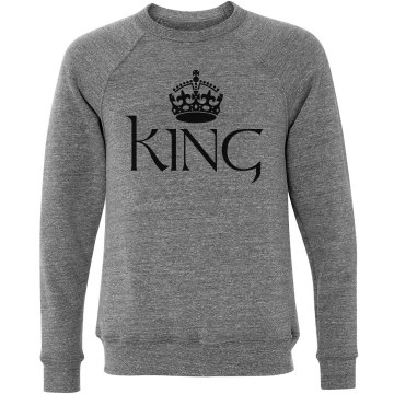 King Crew Unisex Canvas Triblend Crew