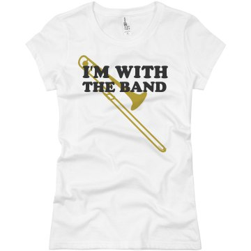 I Am With The Band  Junior Fit Basic Bella Favorite Tee