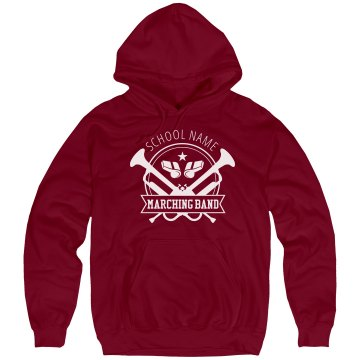 North HS Marching Band Unisex Hanes Ultimate Cotton Heavyweight Hoodie