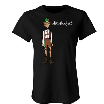 Oktoberfest Sketch Tee Junior Fit Bella Sheer Longer Length Rib Tee