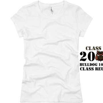 Class Of 2000 Ten Year  Junior Fit Basic Bella Favorite Tee