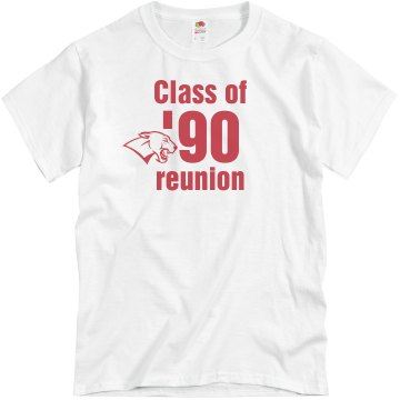 Class of 90 Reunion Unisex Basic Gildan Heavy Cotton Crew Neck Tee