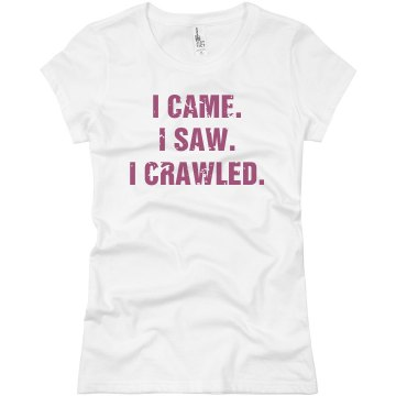 Bar Crawl Distressed Junior Fit Basic Bella Favorite Tee