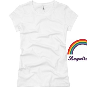 Legalize Gay Rights Junior Fit Basic Bella Favorite Tee